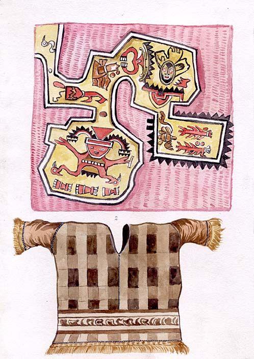 [Diversas figuras y utensilios propios de una etnia] [Dibujo] diferentes diseños de tejidos. uno de ellos numerado. Perú. http://aleph.csic.es/F?func=find-c&ccl_term=SYS%3D000007522&local_base=ARCHIVOS