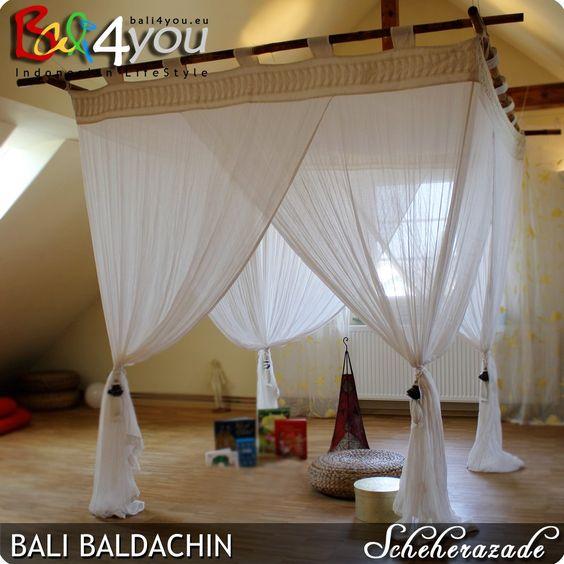 Bali Baldachin Moskitonetz Scheherazade 200x200 inkl 4 Quasten Mückenschutz: Amazon.de: Sport & Freizeit