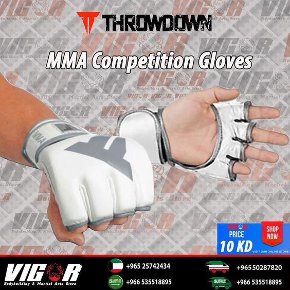 Throwdown Mma Competition Gloves صنعت من البلاستك المقوى مع حماية للاصابع التفاف كامل حول المعصم سرعة في الارتداء Martial Arts Store Martial Martial Arts