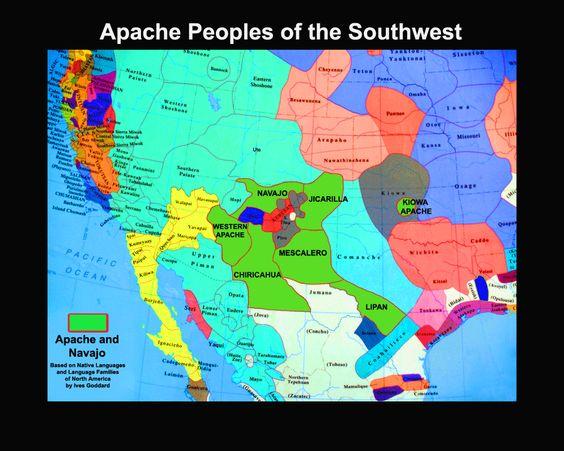 Httpwwwchiricahuaapachecomwpcontentgallerymapsapache - Us tribes map