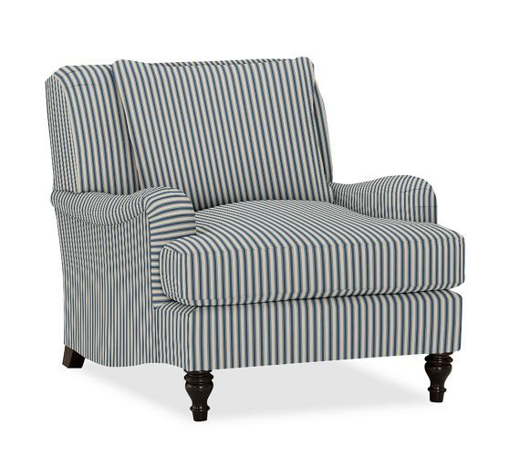 Carlisle Upholstered Armchair Pottery Barn My Coastal
