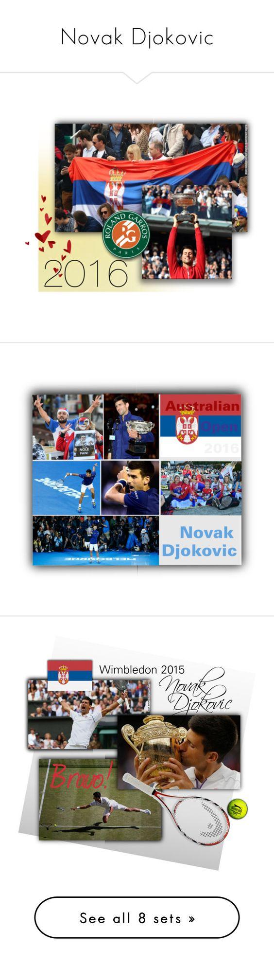 """Novak Djokovic"" by ysmn-pan ❤ liked on Polyvore featuring art, winner, wimbledon, 2015, NovakDjokovic and 211"