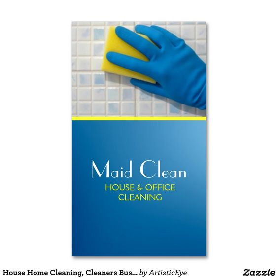 House Home Cleaning, Cleaners Business Card Business Pinterest - spreadsheet for cleaning business