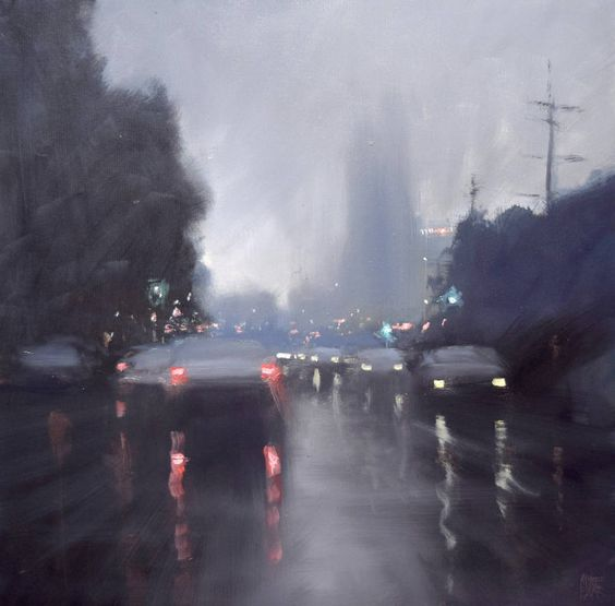 Beautiful Rain Paintings by Mike Barr – Fubiz Media