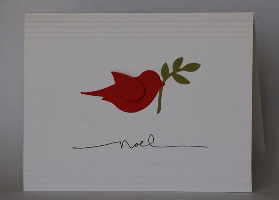 Simple elegant homemade christmas cards cards to for Elegant homemade christmas cards