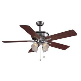 Harbor Breeze 52-in Tiempo Brushed Nickel Ceiling Fan with Light Kit.  Another