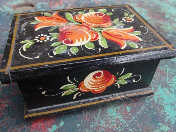 Bavarian Painted Box on Etsy, $90.00