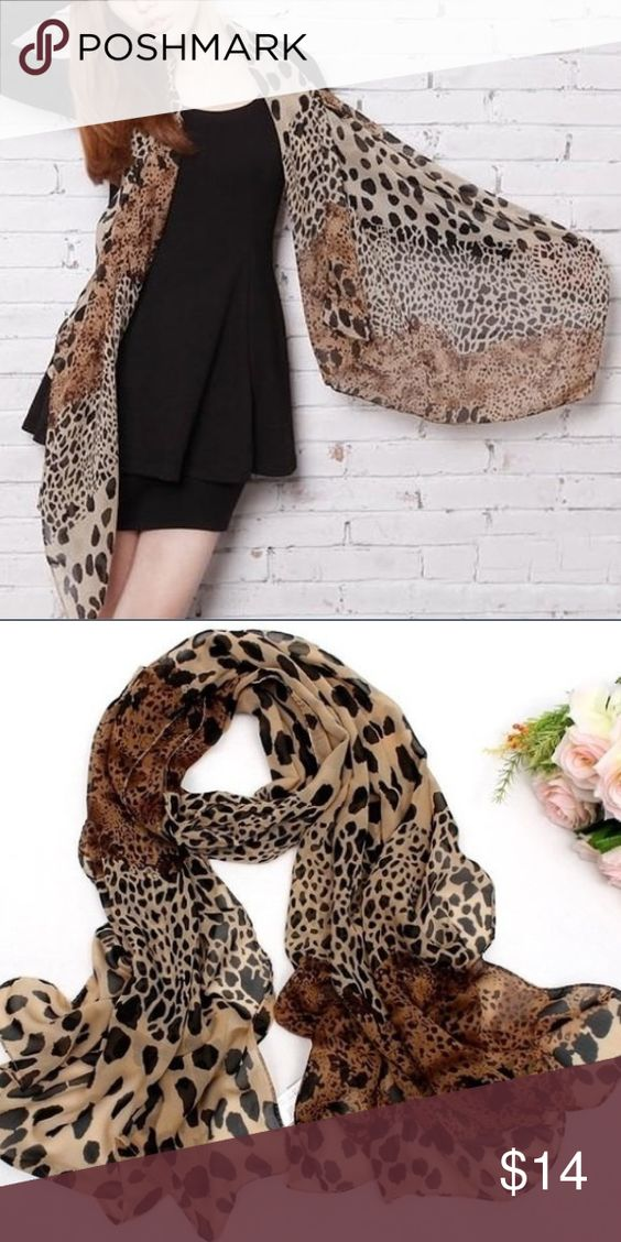 Leopard Print Scarf This Leopard Print Scarf is large enough to use as a shawl.  Delicate Beauty. 💝 Accessories Scarves & Wraps