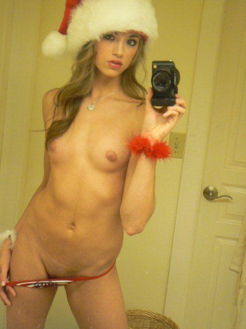 Christmas girl nude selfie something