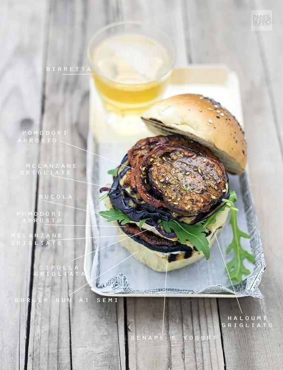 Grilled vegetarian greek burger
