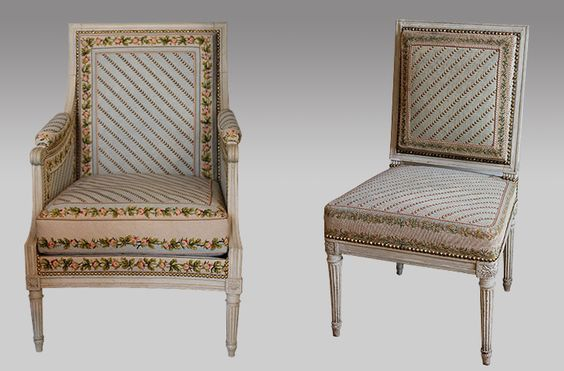 Chairs made for Madame Élisabeth by Jean-Baptiste Boulard: