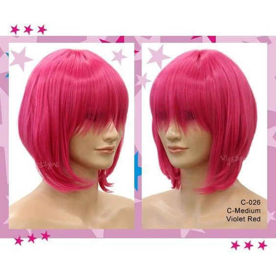 Cosplay - Short Costume Wig - Straight ($30) ❤ liked on Polyvore featuring beauty products, haircare and hair styling tools