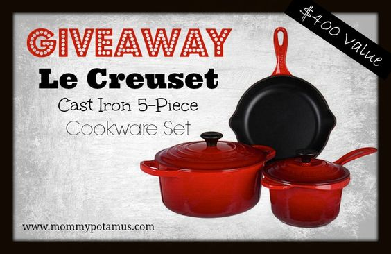 Win Le Creuset Pans Set!