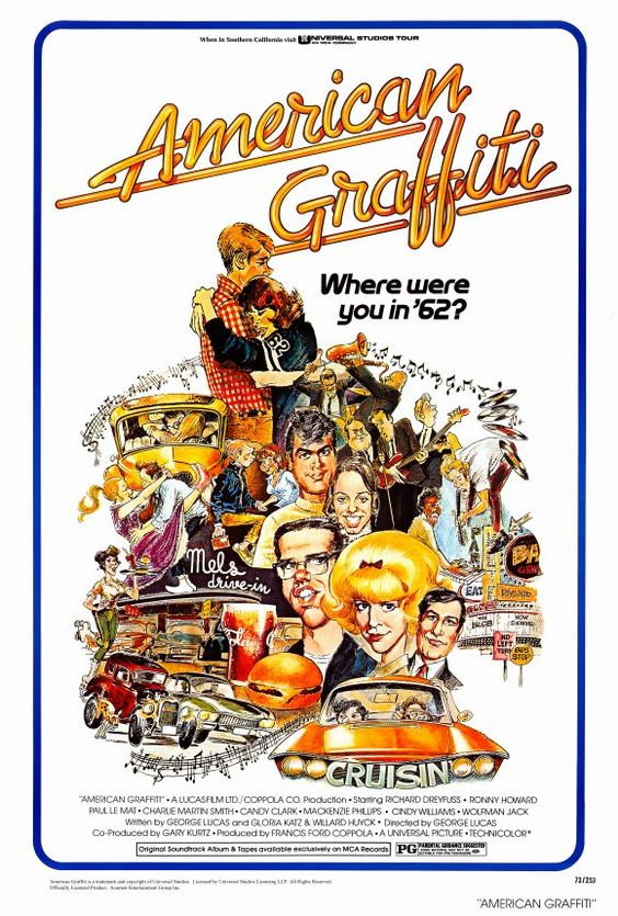 """American Graffiti"" (1973)  Life goes on.  Such a real story.  Splendid acting."
