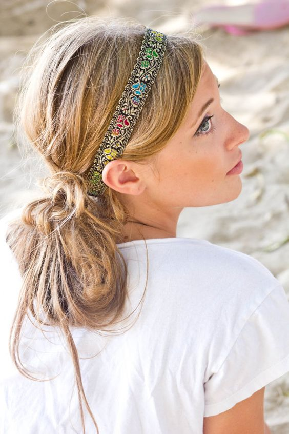 HEADBAND - Bohemian Women Hair Accessories via Etsy