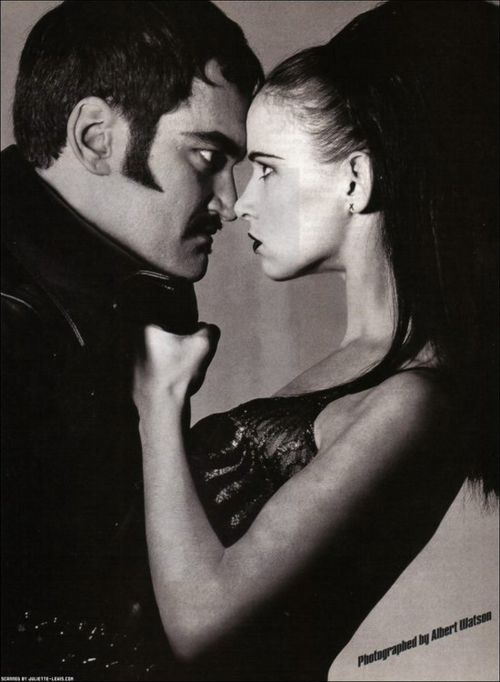 Quentin Tarantino with Juliette Lewis.
