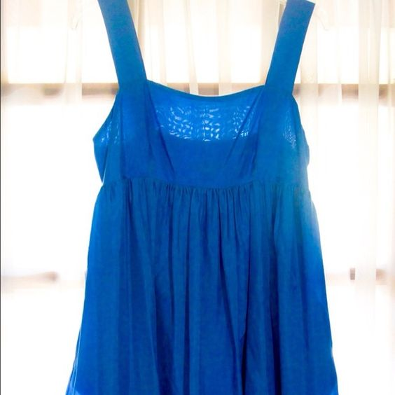 Express Princess Dress Only worn 1x! Sweetheart neckline with thick straps / semi low back hits at mid back / pleats and fullness start right under chest / thick hem with ribbing detail / hits just below mid thigh Express Dresses