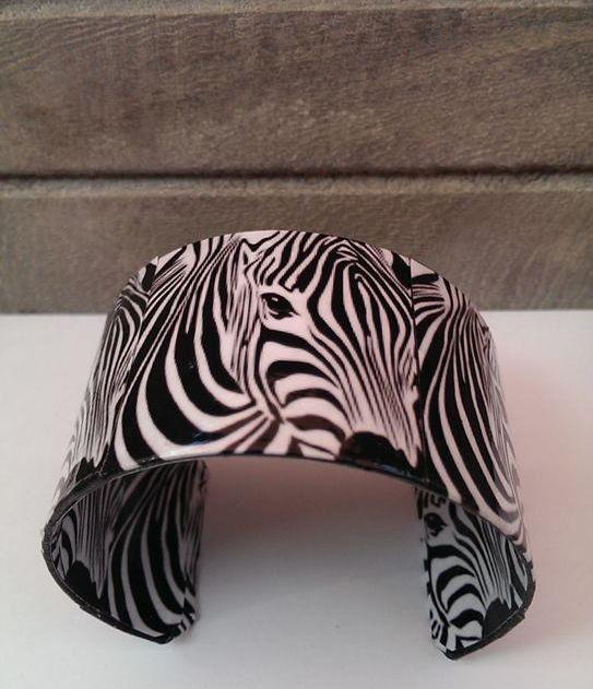 Zebra Cuff Bracelet by BleedingHeartDesigns on Etsy, $25.00