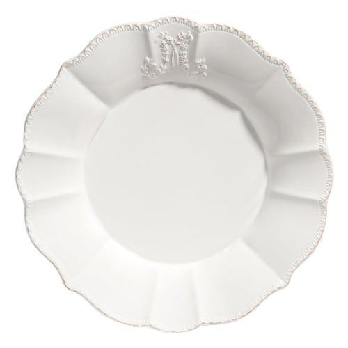 Assiette Plate Bourgeoisie Blanche Sur Maisons Du Monde Decouvrez Tous Les Univers De L Art De La Table Sur Maiso Assiettes Plates Vaisselle Blanche Vaisselle