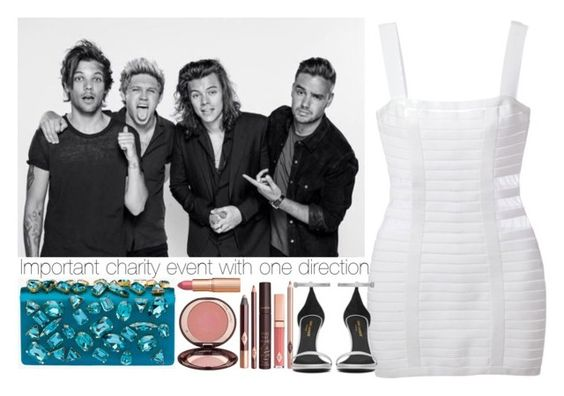 """""""Important charity event with one direction."""" by outfitsbynina9 ❤ liked on Polyvore featuring Balmain, Charlotte Tilbury, Prada and Yves Saint Laurent"""