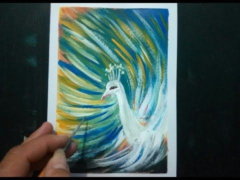 Easy Painting Ideas Step By Step For Beginners Diy Peacock Painting Youtube Peacock Painting Painting Kids Canvas Painting