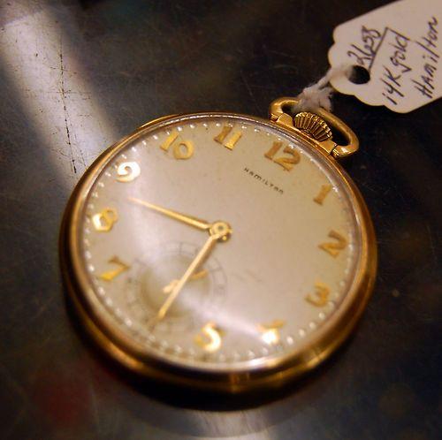 Pre-WWI 14k Gold Hamilton Pocketwatch