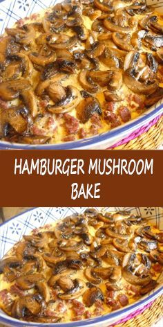 LOW-CARBING AMONG FRIENDS: HAMBURGER MUSHROOM BAKE