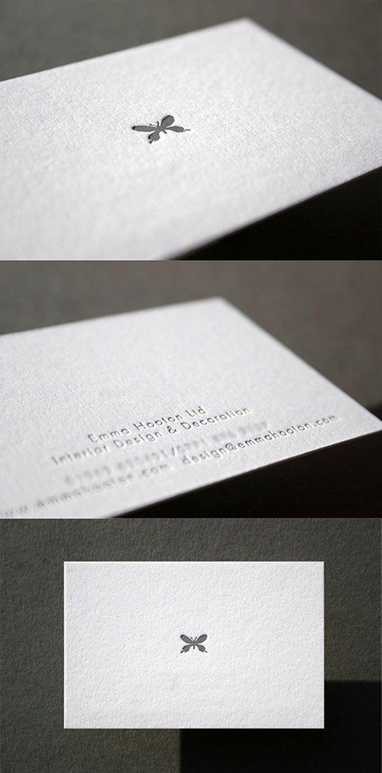 Minimal Design Letterpress Business Card  Business Cards  The