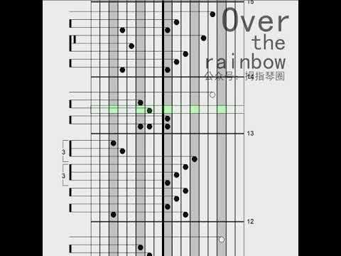 Kalimba Tabs Somewhere Over The Rainbow Youtube Rainbow Music