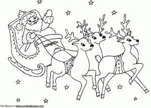trineo de santa navidad christmas