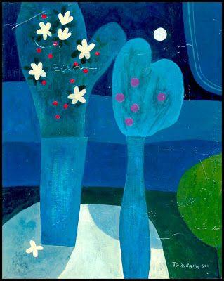 Yoshiro Tachibana - Dos Floreros en Azul ~
