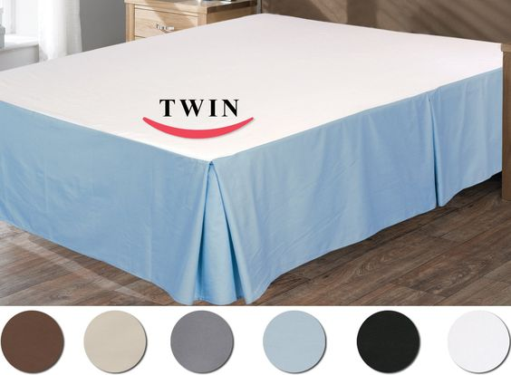 Amazon.com - Utopia Bedding Bed Skirt 100% Combed Cotton (Twin, White) -$15