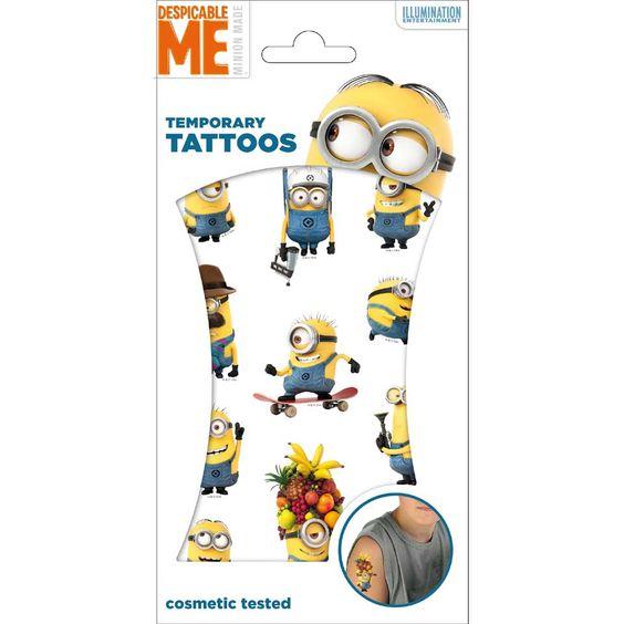 Minions tijdelijke tattoos