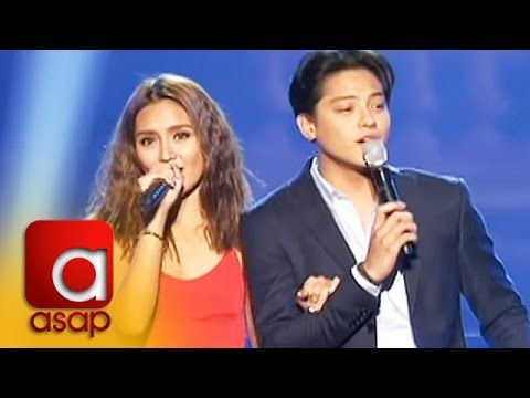 "This is Kathryn Bernardo and Daniel Padilla singing ""I'll Never Love This Way Again,"" which is the theme song of their upcoming film, ""Barcelona: A Love Untold"" during ASAP Live in New York held at the Barclays Center in Brooklyn, New York, U.S.A. last September 4, 2016."