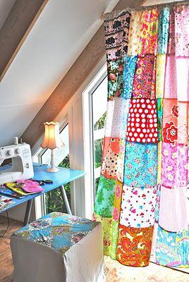 rideaux en patchwork deco pinterest fait maison tutoriel rideau et pi ce de loisirs cr atifs. Black Bedroom Furniture Sets. Home Design Ideas