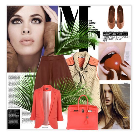 """""""...."""" by proudkaty ❤ liked on Polyvore featuring H&M, Oasis, Hermès and Magdalena"""