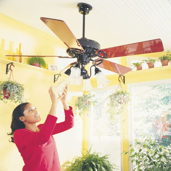 A ceiling fan improves cooling in summer and heating in winter. The result: You feel more comfortable while you save on utility bills.