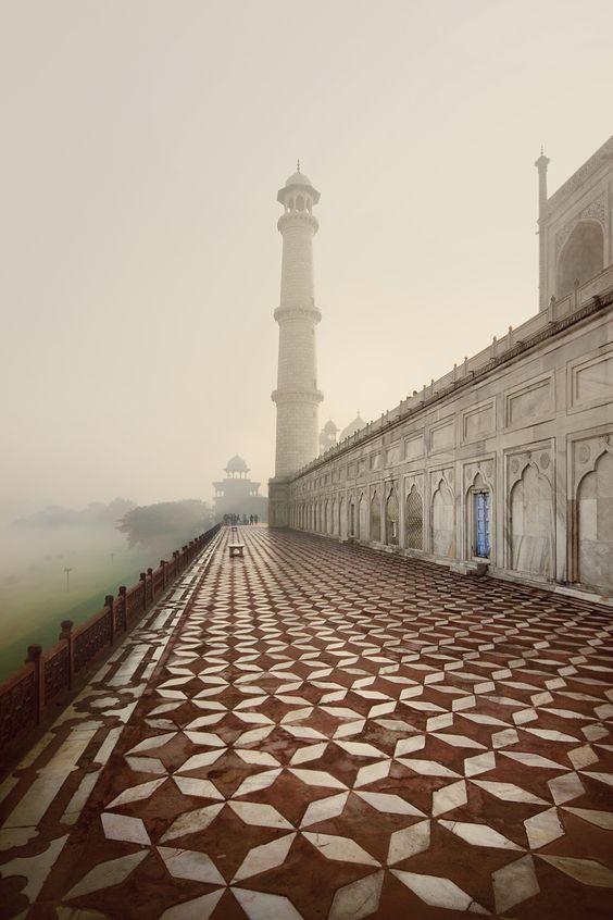 The back of the Taj Mahal, India                              …