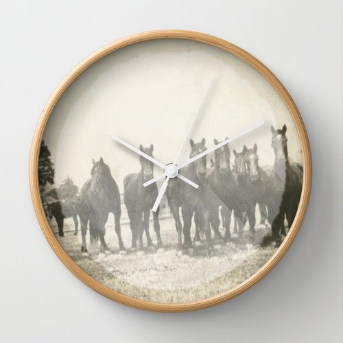 Band of Horses - White Wall Clock | Now available in my Society6 shop!