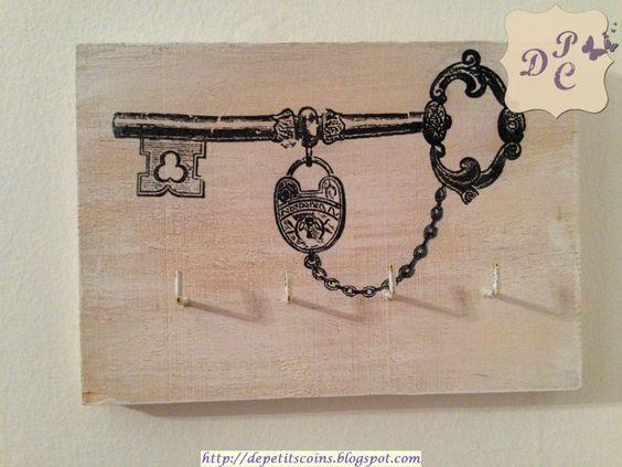 appendi chiavi shabby chic - shabby chic keys holder