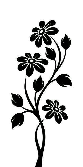 Pin By Kristin Salomon On Craft Decoration Flowers Vector Flower Stencil Flowers Vector Illustration