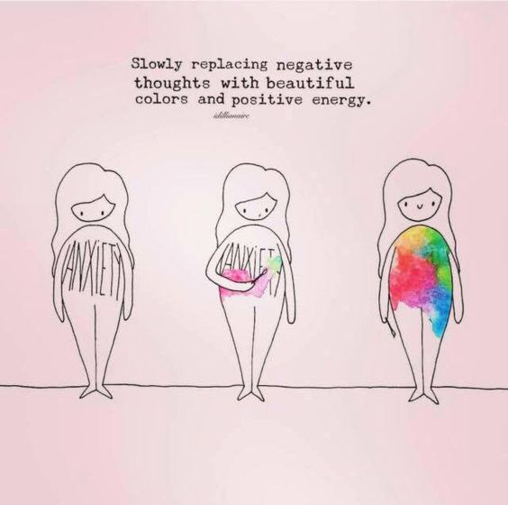 Slowly replace negative thoughts with beautiful colors and positive energy.