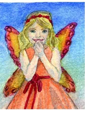 Fairy Wishing Watercolour Original Art on Craftsuprint designed by Kelly Barker - Original Pencil and Watercolour by Kelly Barker. Pretty fairy girl wishing. Great for little girl's birthday, christening, bridesmaid.Included in the zip are the jpg and png files saved at 300dpiYou can use my images for personal or commercial use. If used commercially they must be used as part of a design and not resold in their original state. Copyright Kelly Barker. Please credit me if you make a digital ...