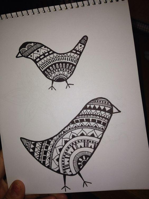 Dibujando #pajaritos #mandala