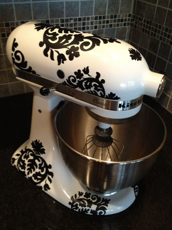 Kitchen Aid Mixer DecalsDamask by thewordnerdstudio on Etsy: