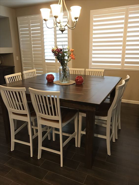 10 Most Wanted Square Dining Tables In 2020 Farmhouse Dining