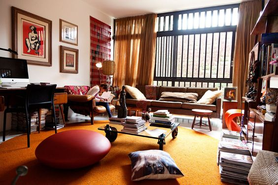 Mole armchair - Cris and Marcelo Rosenbaum at Home in São Paulo