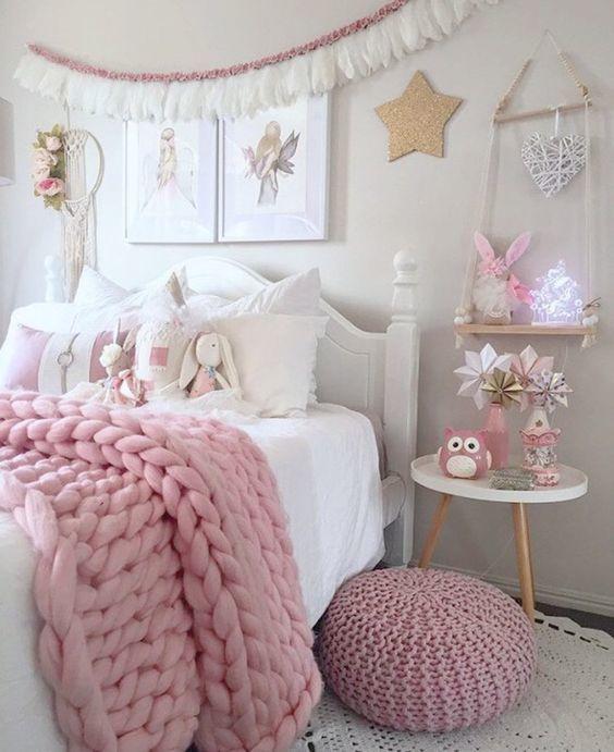 Blanco Dormitorio Vintage De Niñas Dormitorio Niña En 2019