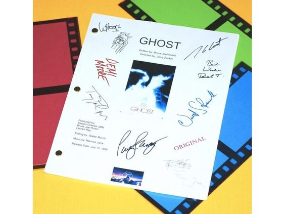 Ghost Movie Script Signed Screenplay Autographed: Patrick Swayze, Demi Moore, Whoopi Goldberg, Tony Goldwyn, Vincent Schiavelli & More