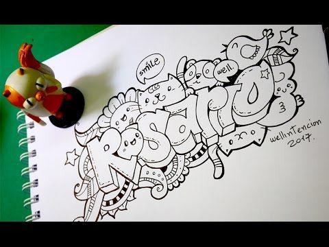 Como Hacer Tu Nombre En Graffiti Doodle Art Rosario Youtube